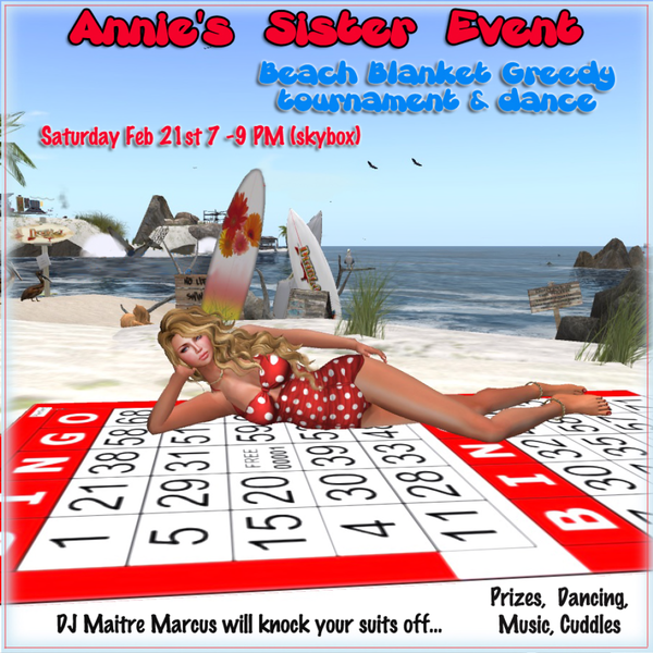 Beach Blanket Cha Cha Dance: Ainne Sister Event Beach Blanket Greedy Tournament & Dance